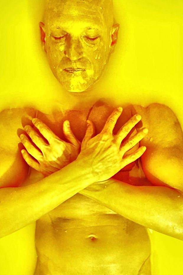 yellow surreal photo print by model avid light