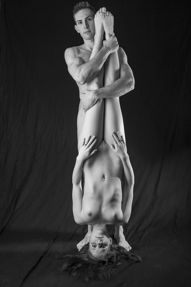 yin yang artistic nude photo print by photographer opp_photog