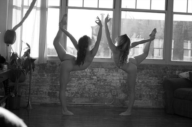 yoga Artistic Nude Photo print by Photographer foxfire 555