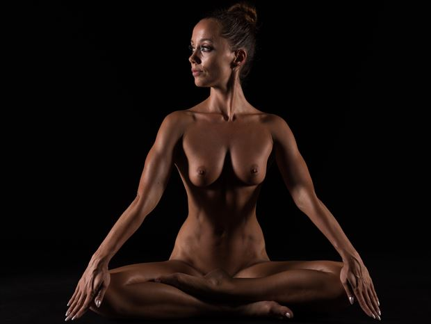 yoga and my body artistic nude photo print by photographer arcis
