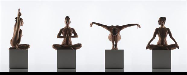 yoga artistic nude artwork print by photographer arcis