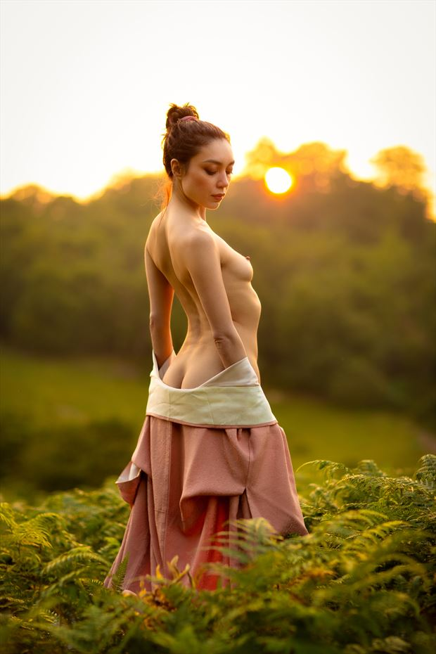 you showed me love and helped me find the sun artistic nude photo print by model rebeccatun
