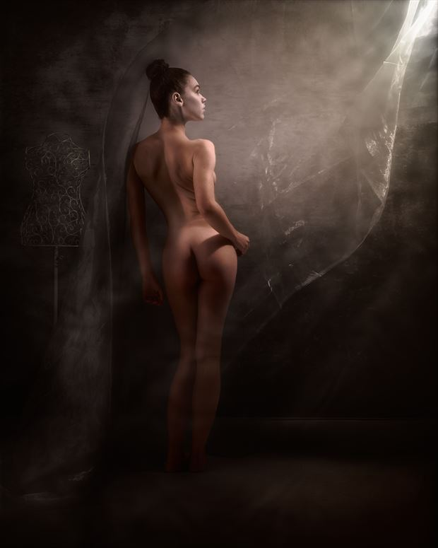zoe in light artistic nude photo print by photographer ncp photography