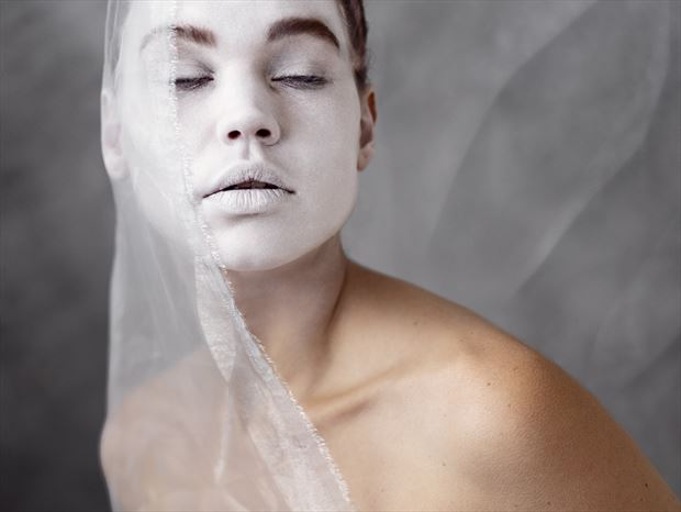 zoe the white surreal photo print by photographer ncp photography
