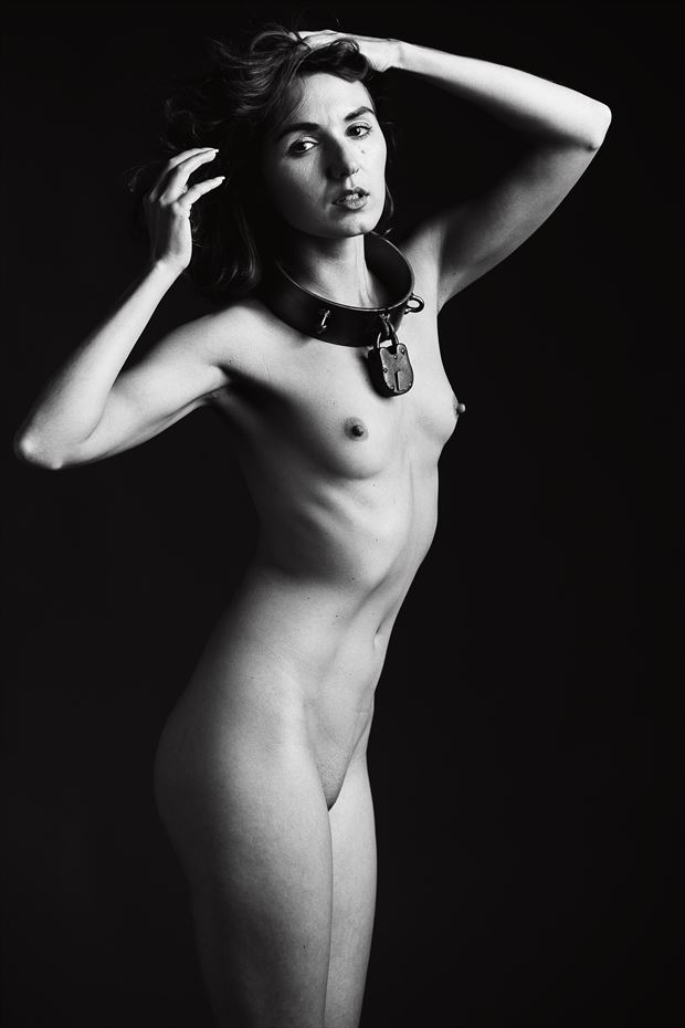 zoe west collared artistic nude photo print by photographer depa kote